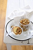 Muesli with apple and yogurt