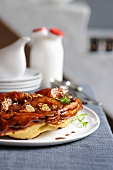 Pear tart with slivered almonds and thyme