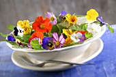 An edible flower salad