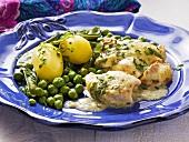Stuffed cod au gratin