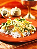 Vegetables with rice (Kerala, India)