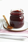 A jar of damson jam