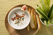 Roquefort and fig dip