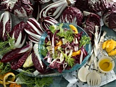 Radicchio and treviso with oranges