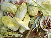 An arrangement of Chinese cabbage