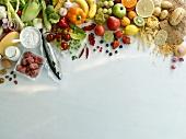Obst, Gemüse, eiweiss- & kohlenhydratreiche Lebensmittel