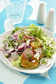 Salad with radishes and orange fillets