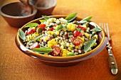 Barley salad with sweetcorn and tomatoes