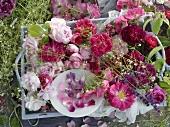 An arrangement of various roses
