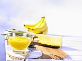 Kaltgerührte Ananas-Bananen-Marmelade