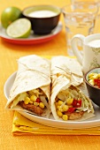 Tortilla with turkey and sweetcorn