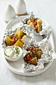 Jacket potatoes with herb quark