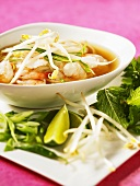 Prawn soup with sprouts (Vietnam)