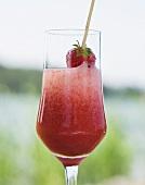 A glass of Strawberry Bellini