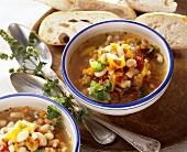Bulgarian bean soup