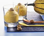 Pumpkin cream with amaretti