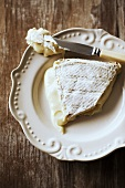 Brie with knife