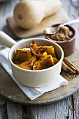 Grilled butternut squash with cinnamon