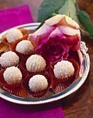 Ginger coconut truffles