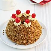 A Frankfurt crown cake with cherries