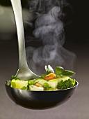 Ladle full of vegetable stew