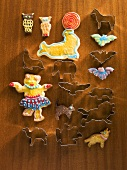 Colourful animal biscuits with cutters