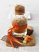 Carrot cake in a glass to give as a gift