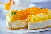Mandarin and pineapple cheesecake