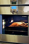 Roast goose in the oven