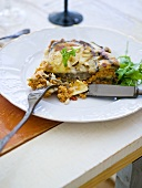 Vegetable lasagne with aubergines