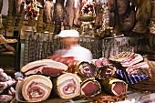 Butcher's shop in Montefalco, Umbria, Italy