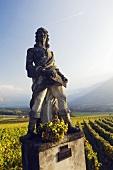 Statue of Duc de Rohan in Jenins, Graubünden, Switzerland
