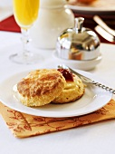 Buttermilk scone with jam for Christmas brunch