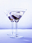 Two Martinis with gold leaf