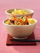 Chao Mia Xian (Gebratenen Nudeln mit Garnelen, China)