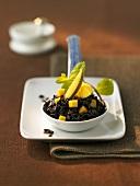 Black rice with mango