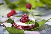 Stacked wafers with raspberry jelly