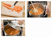 Stewing carrots
