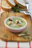 Ramsons (wild garlic) soup with fish