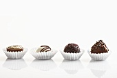 Chocolates: cream-filled, nut, rum truffle, whisky