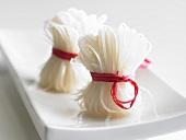 Bundles of rice noodles