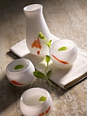 Sake with fresh mint