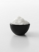 Sea salt in bowl
