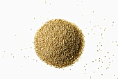 A heap of quinoa from above