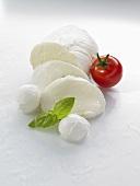 Mozzarella, tomato and basil