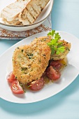 Redfish in couscous crust