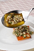 Peperoni alle nocciole (Marinated peppers with hazelnuts)