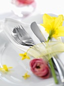 Easter place-setting (close-up)