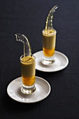 Cream liqueur with caramel