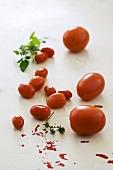 Tomaten in verschiedenen Größen